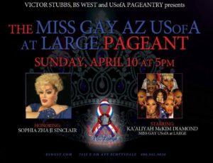 Show Ad | Miss Gay Arizona USofA at Large | B's West (Scottsdale, Arizona) | 4/10/2016