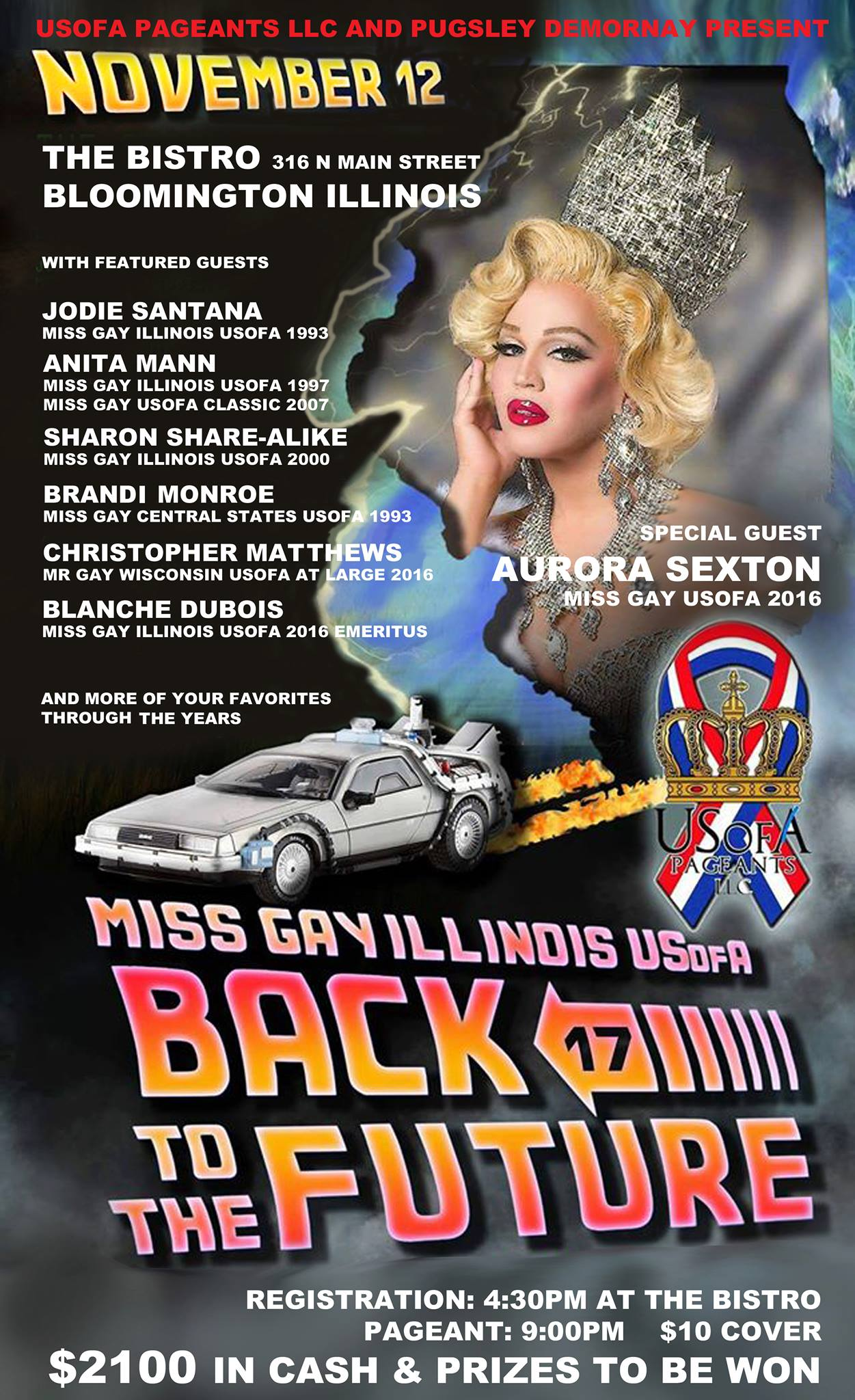 Show Ad | Miss Gay Illinois USofA | The Bistro (Bloomington, Illinois) | 11/12/2016
