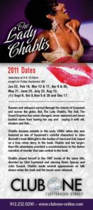 Show Ad | The Lady Chablis | Club One (Savannah, Georgia) | January-December 2011