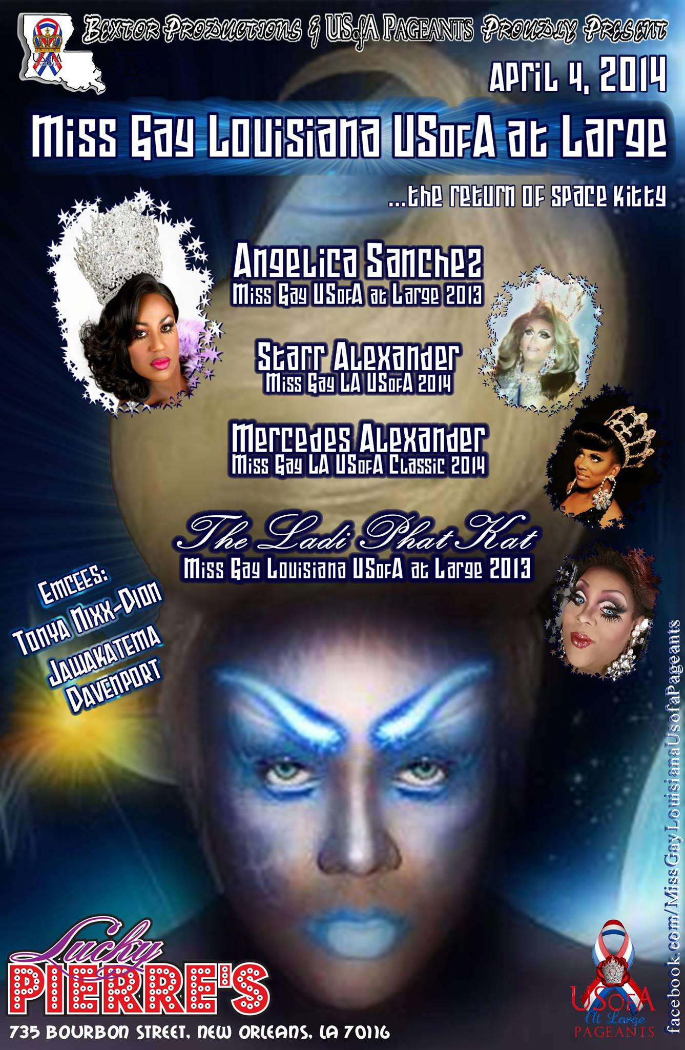 Show Ad | Miss Gay Louisiana USofA at Large | Lucky Pierre's (New Orleans, Louisiana) | 4/4/2014