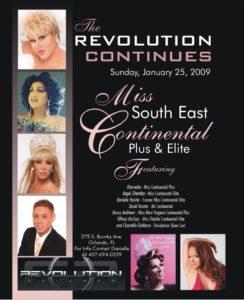 Show Ad   Miss Southeast Continental Plus & Elite   Revolution Night Club (Orlando, Florida)   1/25/2009