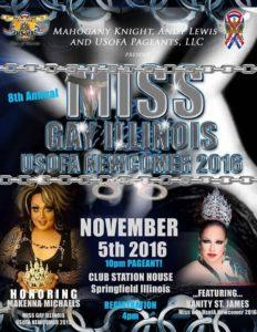 Show Ad | Miss Gay Illinois USofA Newcomer | Club Station House (Springfield, Illinois) | 11/5/2016
