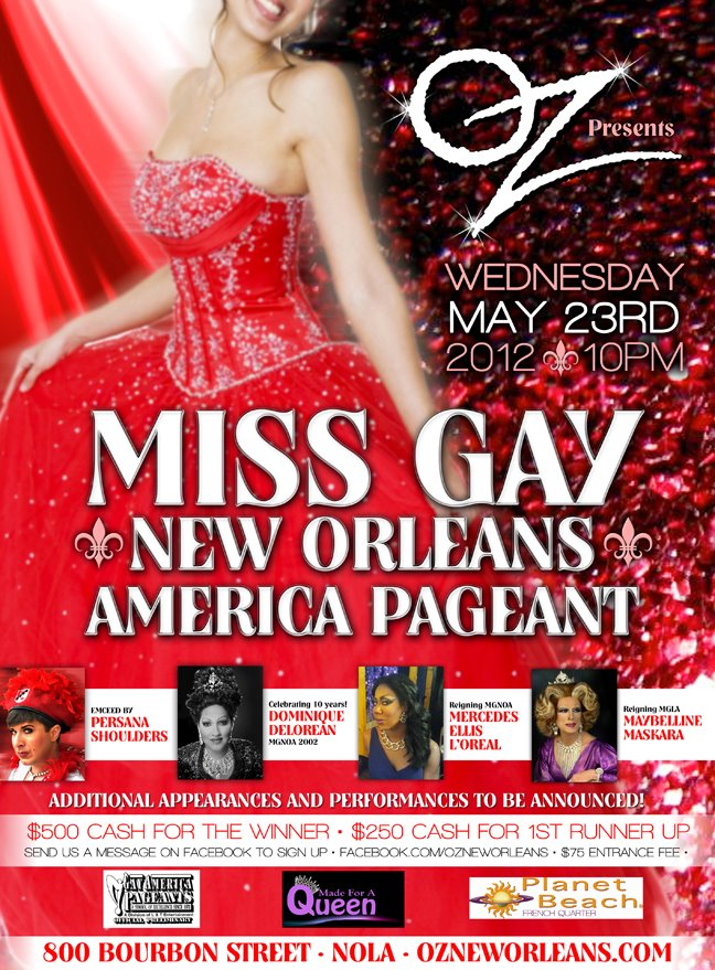 Show Ad | Miss Gay New Orleans America | Oz (New Orleans, Louisiana) | 5/23/2012