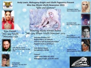 Show Ad | Miss Gay Illinois USofA Newcomer | Club Station House (Springfield, Illinois) | 10/25/2014