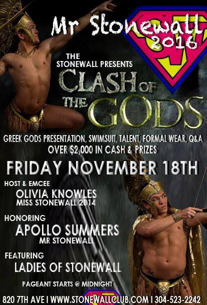 Show Ad | Mr. Stonewall (Stonewall Club - Huntington, West Virginia) | 11/18/2016