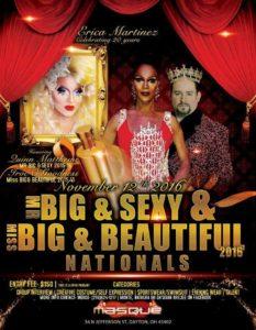 Show Ad | Mr. Big & Sexy and Miss Big & Beautiful | Masque (Dayton, Ohio) | 11/12/2016