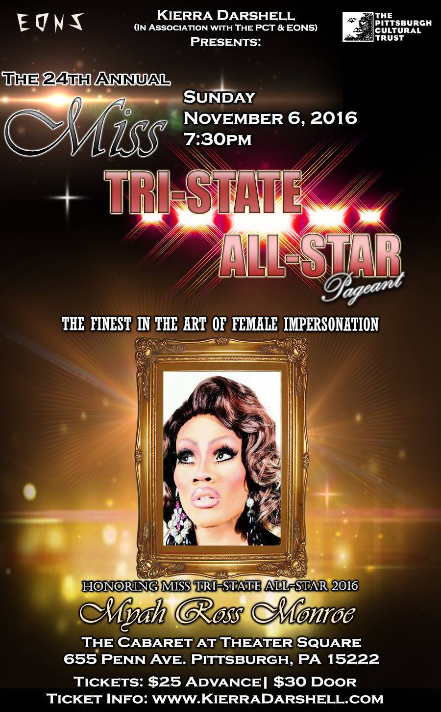 Show Ad | Miss Tri-State All-Star | The Cabaret at Theater Square (Pittsburgh, Pennsylvania) | 11/6/2016
