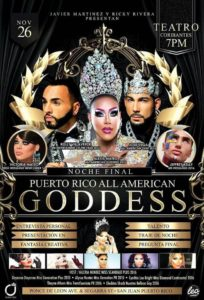 Show Ad | Puerto Rico All American Goddess | 11/26/2016