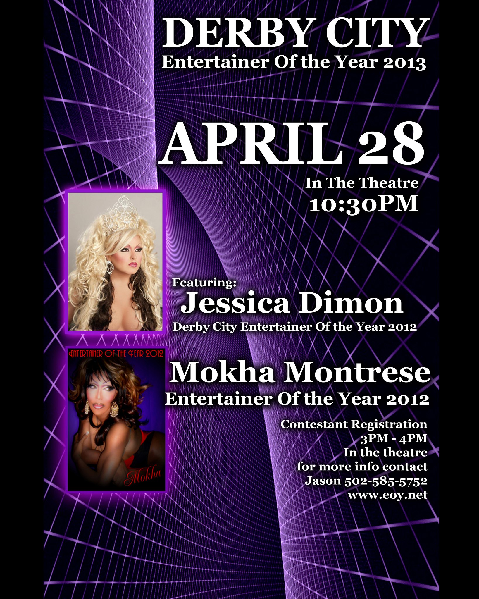 Show Ad | Derby City Entertainer of the Year, F.I. | The Connection Night Club (Louisville, Kentucky) | 4/28/2013