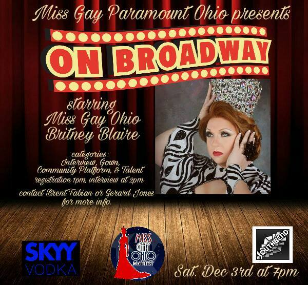 Show Ad | Miss Gay Paramount Ohio | Southbend Tavern (Columbus, Ohio) | 12/3/2016
