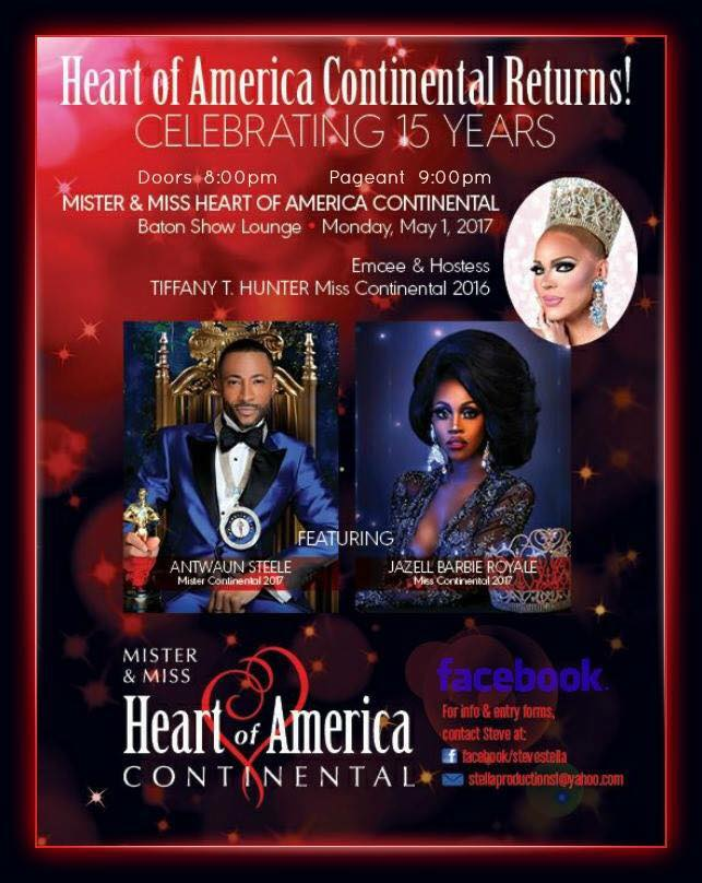 Show Ad | Mr. and Miss Heart of America Continental | Baton Show Lounge (Chicago, Illinois) | 5/1/2017