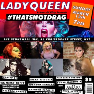 Show Ad | The Stonewall Inn (New York, New York) | 3/12/2017