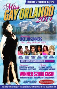Show Ad | Miss Gay Orlando | Parliament House (Orlando, Florida) | 9/15/2014