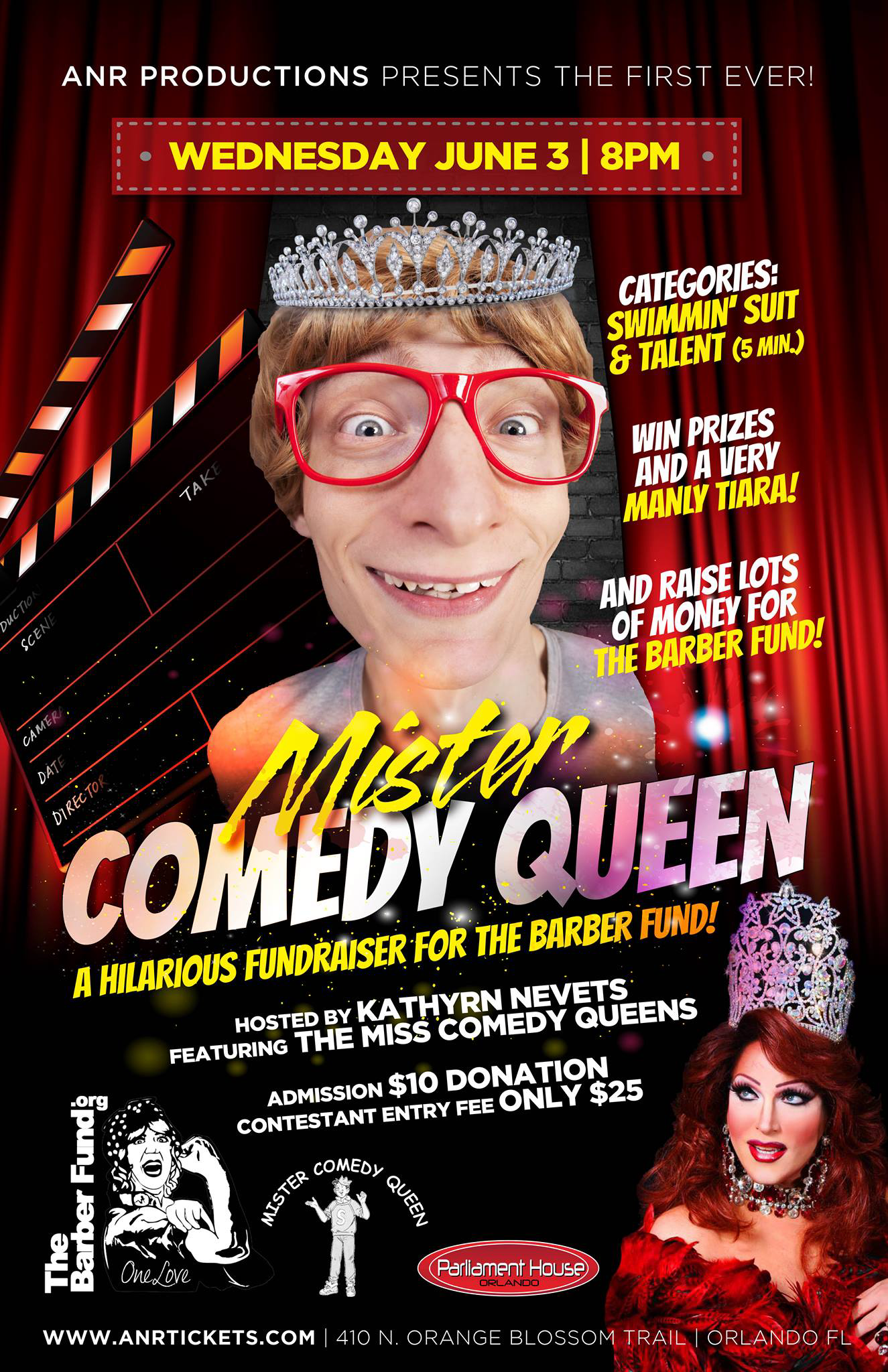 Show Ad | Mister Comedy Queen | Parliament House (Orlando, Florida) | 6/3/2015
