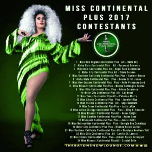 Miss Continental Plus 2017 Contestants
