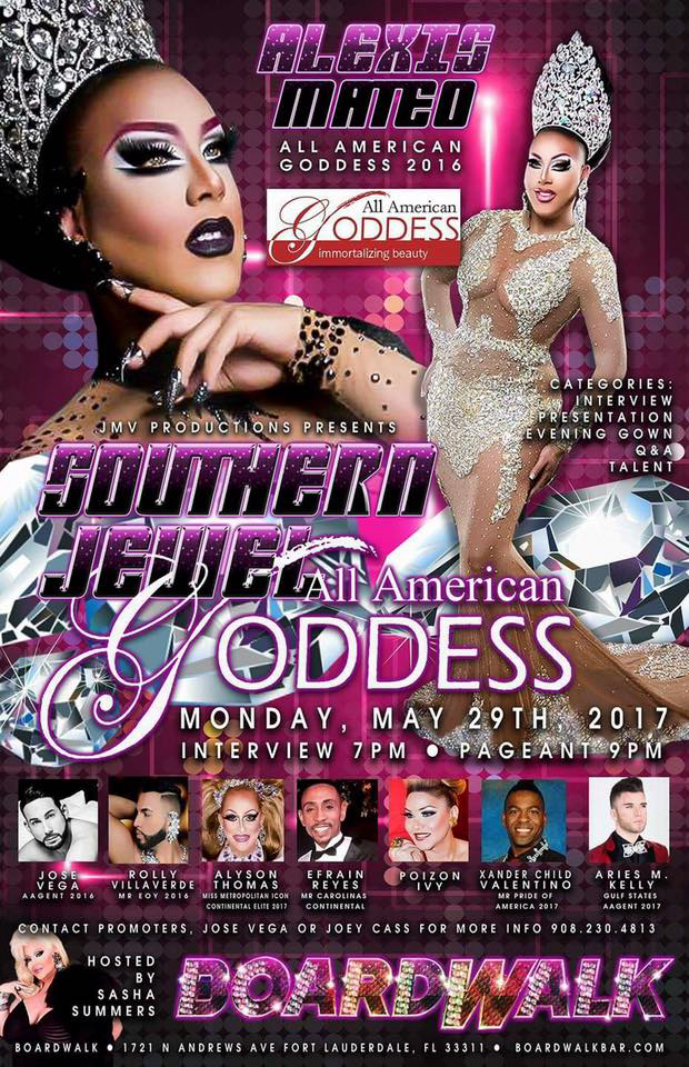 Show Ad | Southern Jewel All American Goddess | Boardwalk (Fort Lauderdale, Florida) | 5/29/2017