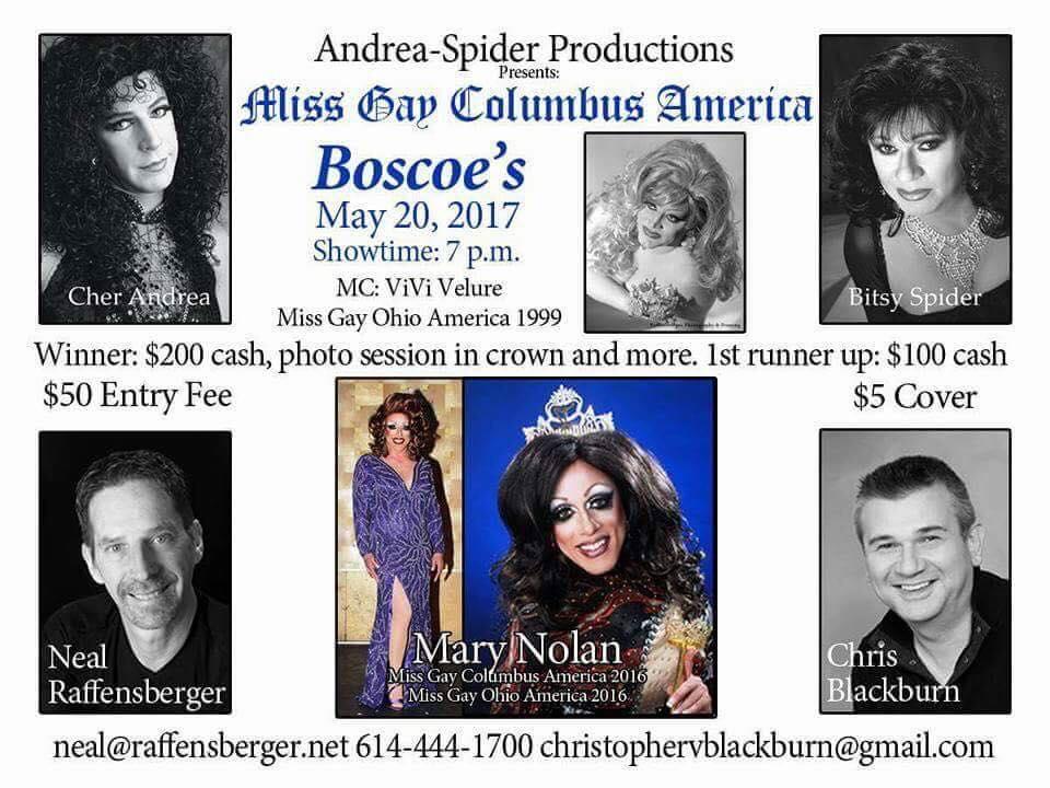 Show Ad | Miss Gay Columbus America | Boscoe's (Columbus, Ohio) | 5/20/2017