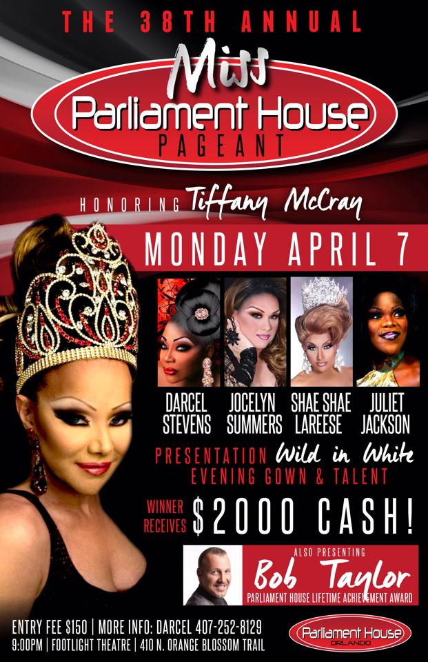 Show Ad | MIss Parliament House | Parliament House (Orlando, Florida) | 4/7/2014