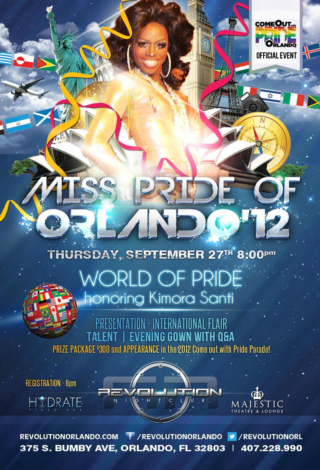 Show Ad | Miss Pride of Orlando | Revolution (Orlando, Florida) | 9/27/2012