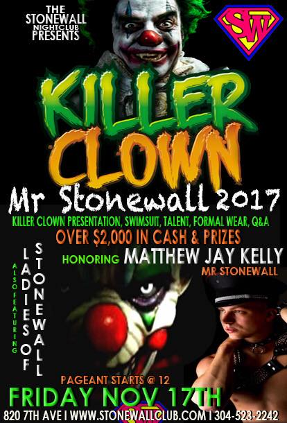 Show Ad | Mr. Stonewall 2017 | Stonewall Club (Huntington, West Virginia) | 11/17/2017