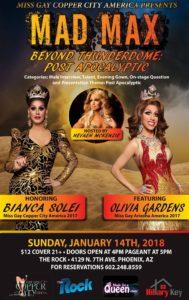 Show Ad | Miss Gay Copper City America | The Rock (Phoenix, Arizona) | 1/14/2018