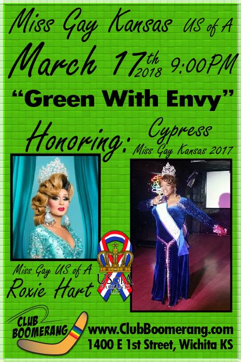 Show Ad | Miss Gay Kansas USofA | Club Boomerang (Wichita, Kansas) | 3/17/2018