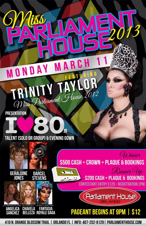 Show Ad | Miss Parliament House | Parliament House (Orlando, Florida) | 3/11/2013