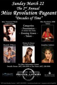 Show Ad | Revolution Nightclub (Orlando, Florida) | 3/22/2009