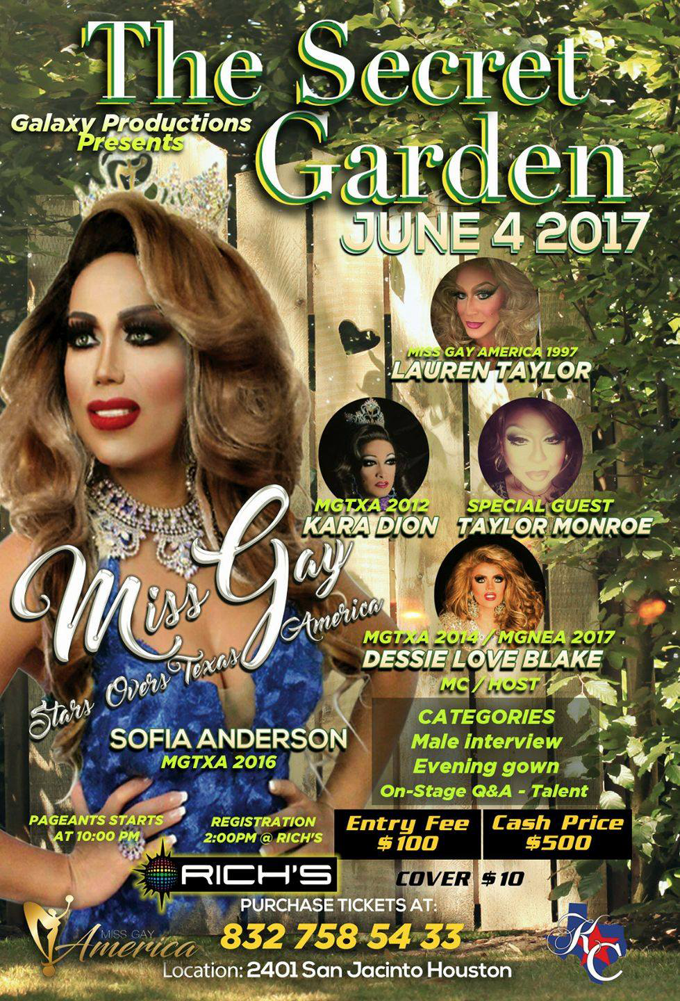 Show Ad | Miss Gay Stars Over Texas America | Rich's (Houston, Texas) | 6/4/2017