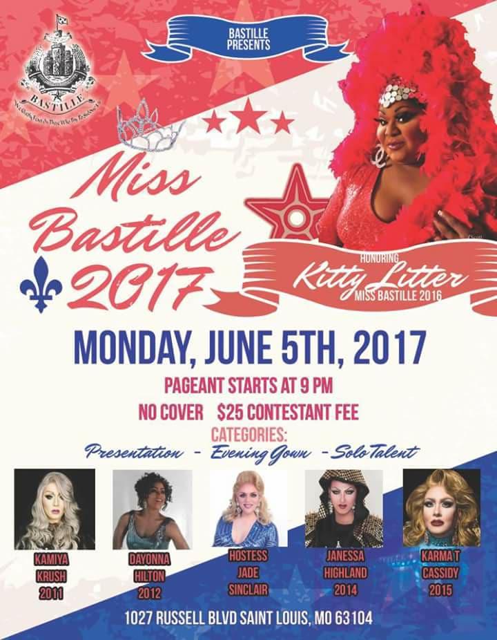 Show Ad | Miss Bastille | Bastille in Soulard (St. Louis, Missouri) | 6/5/2017