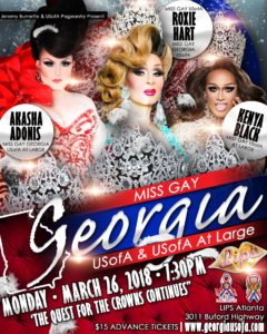 Show Ad | Miss Gay Georgia USofA and Miss Gay Georgia USofA at Large | 3/26/2018