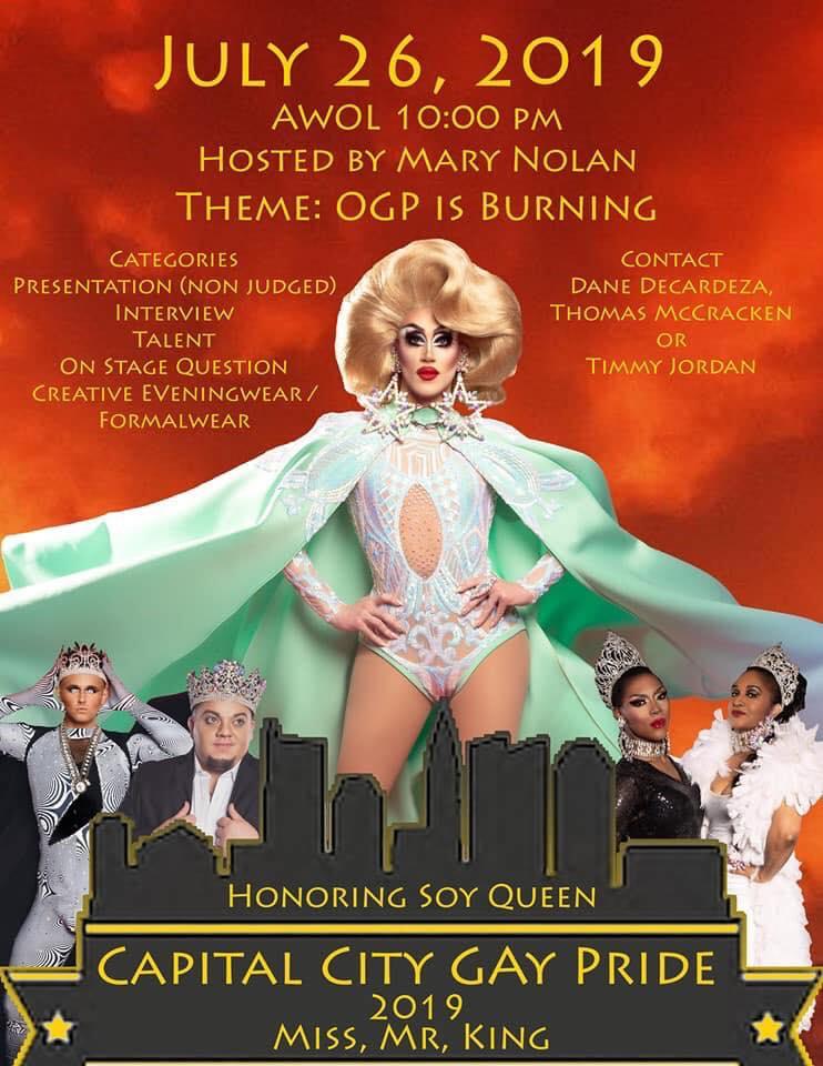 Ad | Capital City Gay Pride | A.W.O.L. (Columbus, Ohio) | 7/26/2019
