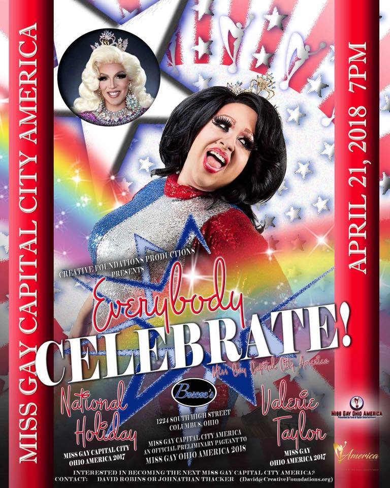 Show Ad | Miss Gay Capital City America | Boscoe's (Columbus, Ohio) | 4/21/2018