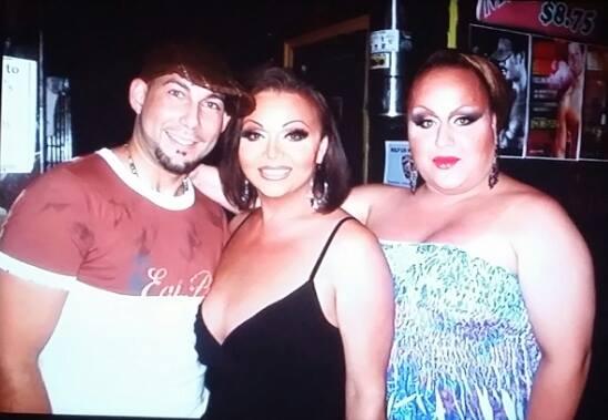 Jose Vega, Maya Douglas and Mercedes Tyler at Club Monster on Christopher Street in New York City. Circa 2010.