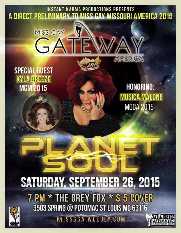 Show Ad | Miss Gay Gateway America | The Grey Fox (St. Louis, Missouri) | 9/26/2015