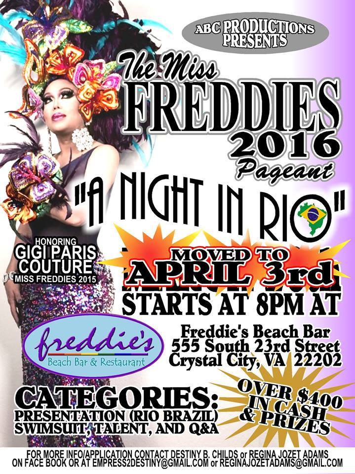 Show Ad | Miss Freddie's (Freddie's Beach Bar & Restaurant (Crystal City, Virginia) | 4/3/2016