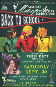 Show Ad | Miss Gay Metropolitan America | The Grey Fox (St. Louis, Missouri) | 9/30/2017