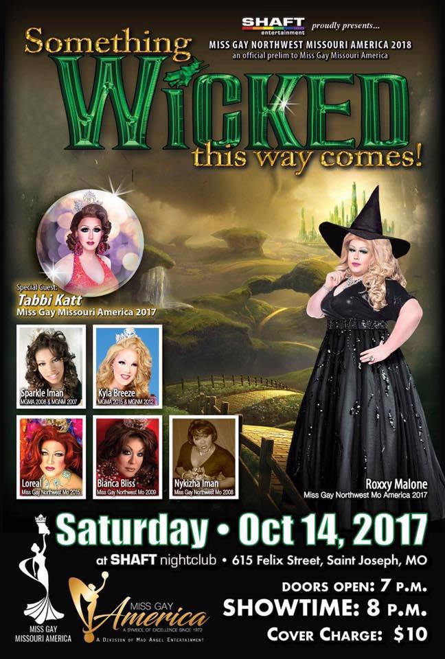 Show Ad | Miss Gay Northwest America | Shaft Nightclub (Saint Joseph, Missouri) | 10/14/2017