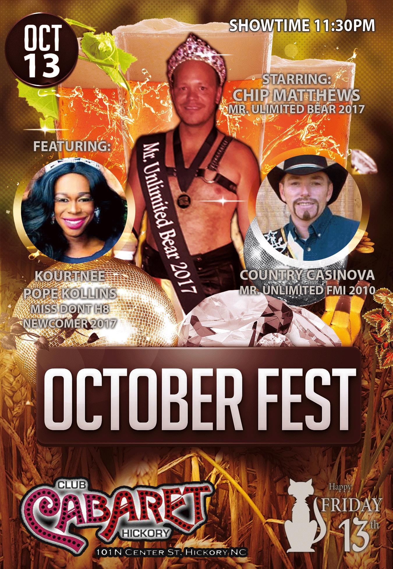 Show Ad | Club Cabaret (Hickory, North Carolina) | 10/13/2017
