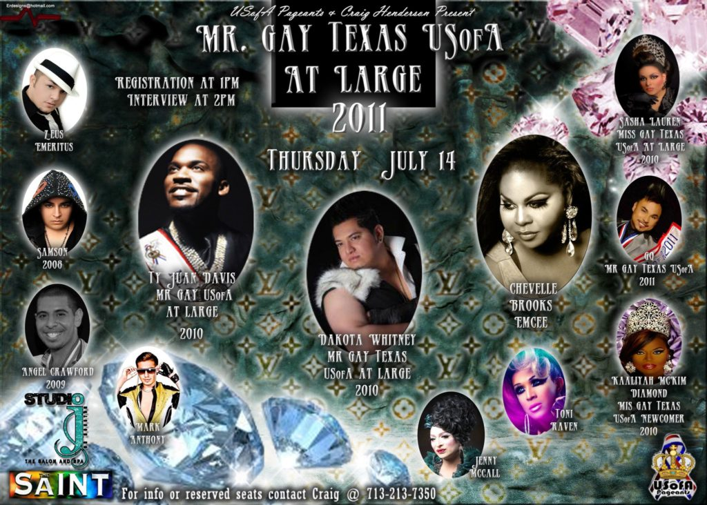 Show Ad | Mr. Gay Texas USofA at Large | The Saint (San Antonio, Texas) | 7/14/2011