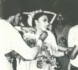 Lady Shawn, Miss Gay America 1981 - The Lady Shawn receives congratulatory wishes from the audience moments after being crowned Miss Gay Dallas on February 17, 1977 at Dimensions III. Later that year, Shawn became first alternate to Miss Gay Texas 1977, Donna Day.
