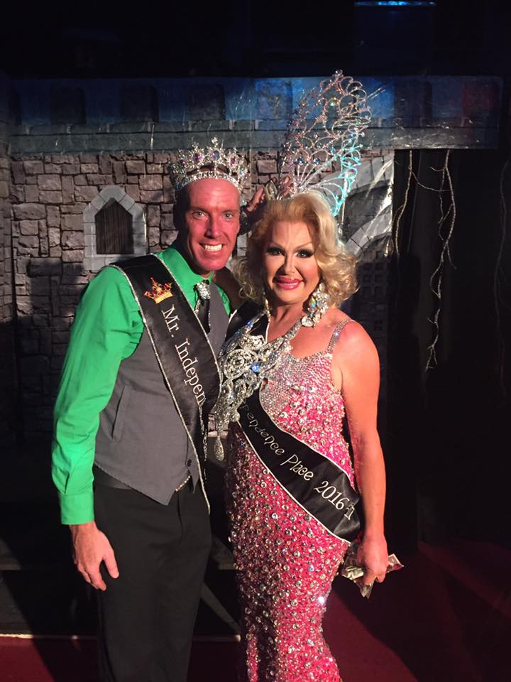Tyler Christianson (Mr. Independence Place 2016) and Jodie Santana (Miss Independence Place 2016) shortly after her win at Independence Place in Cape Girardeau, Missouri.
