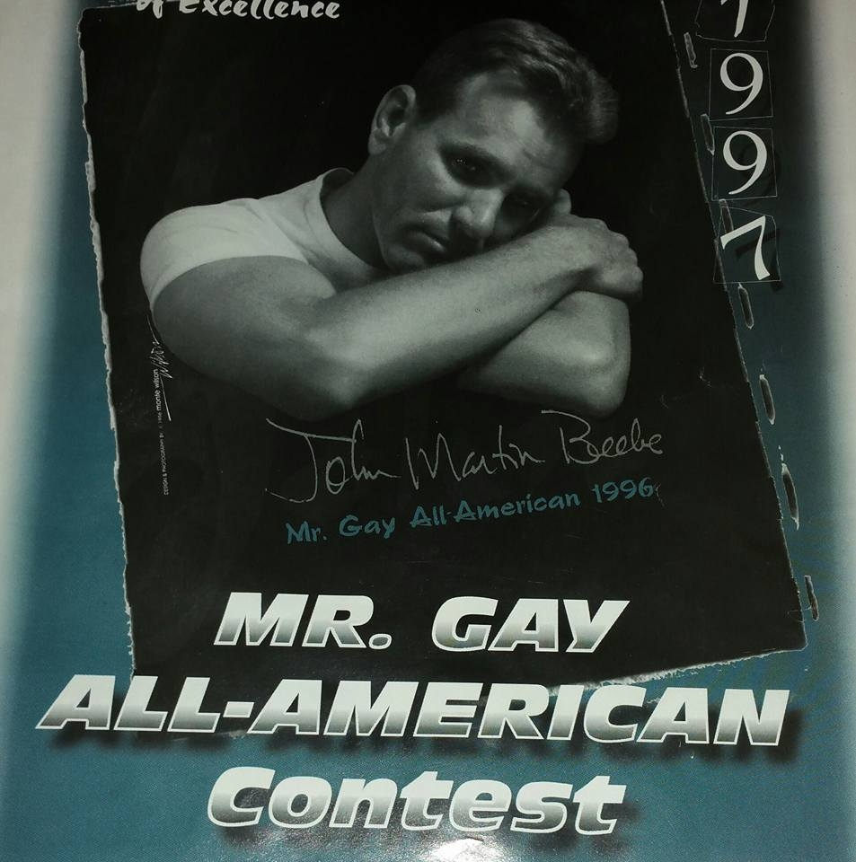 John Martin Beebe on the cover of the Mr. Gay All-American 1997 Program.