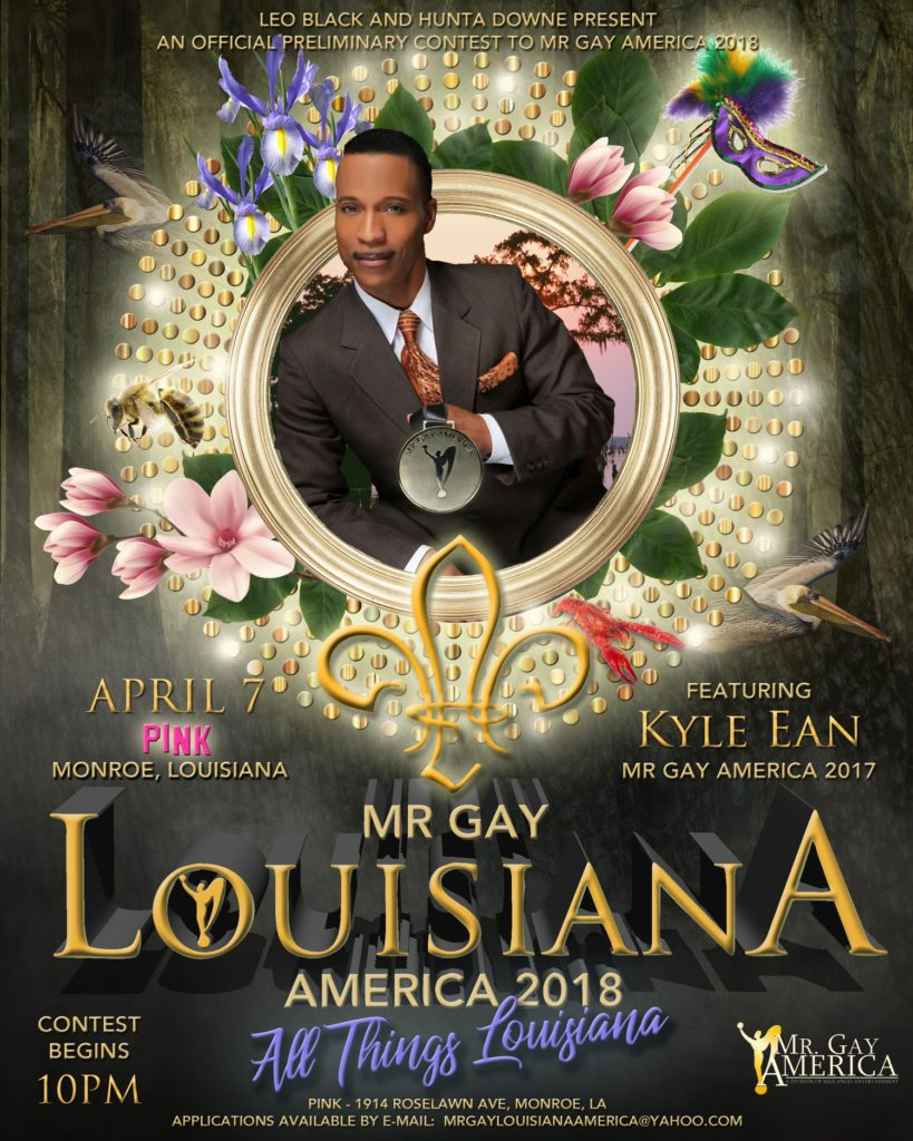 Show Ad | Mr. Gay Louisiana America | Pink (Monroe, Louisiana) | 4/7/2018