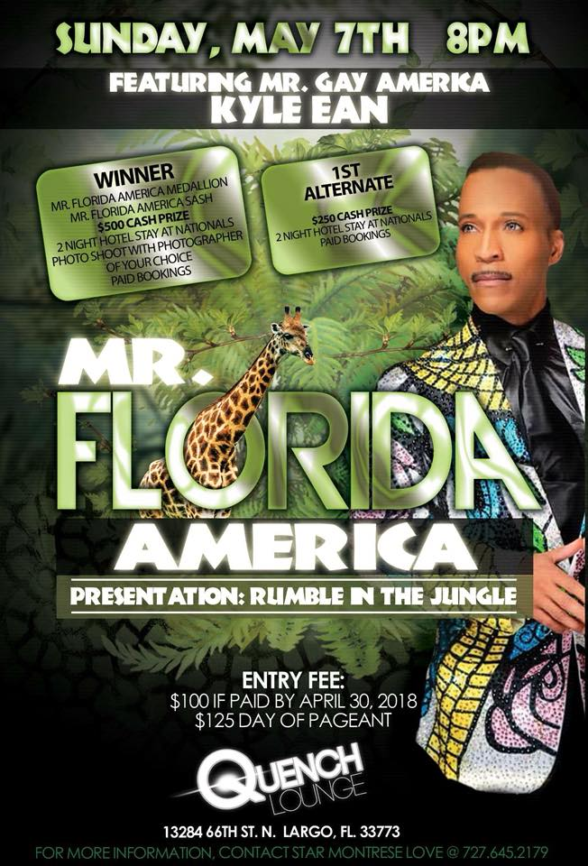 Show Ad | Mr. Gay Florida America | Quench Lounge (Largo, Florida) | 5/7/2018