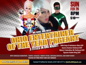 Show Ad | Ohio Entertainer of the Year Mr., King and Miss | Masque (Dayton, Ohio) | 2/26/2012