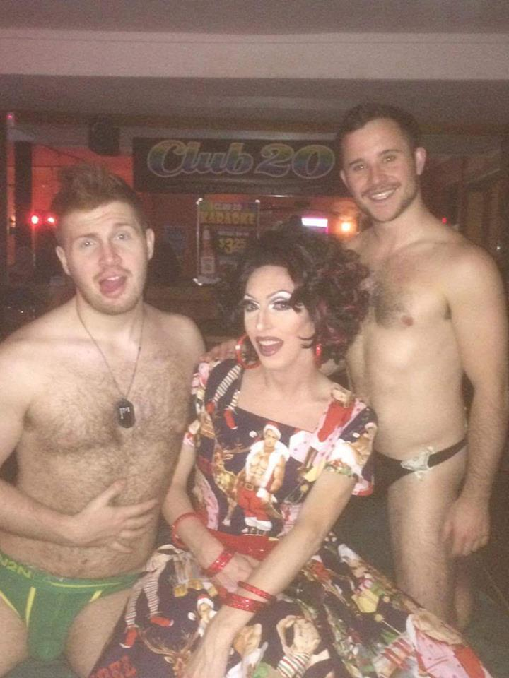Redd Valentine, Samantha Rollins and Too Sweet Sean. (Location: Club 20 - Columbus, Ohio)