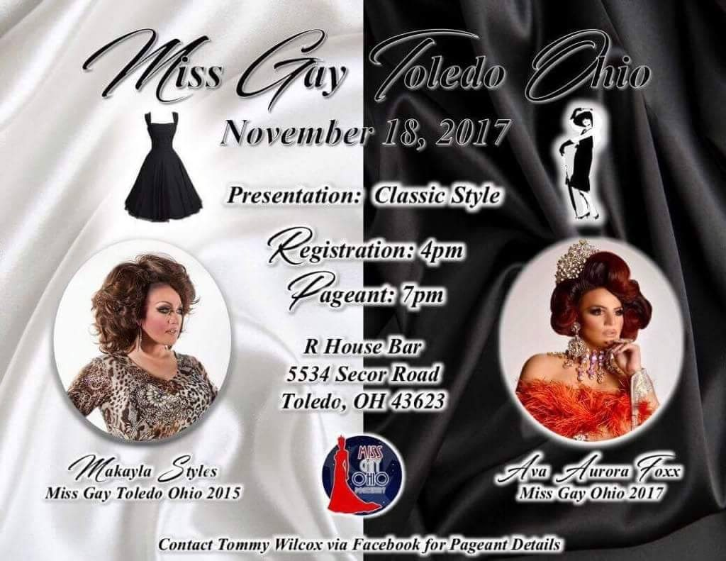 Show Ad | Miss Gay Toledo Ohio | R House Bar (Toledo, Ohio) | 11/18/2017