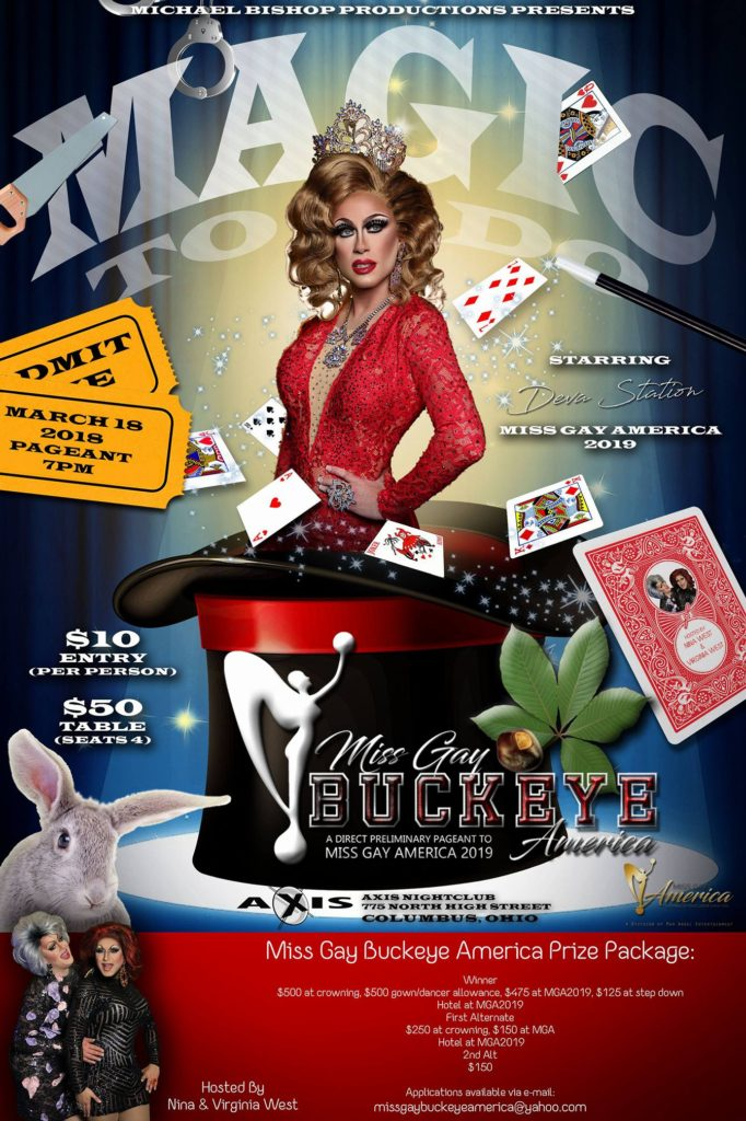 Show Ad | Miss Gay Buckeye America | Axis Night Club (Columbus, Ohio) | 3/18/2018