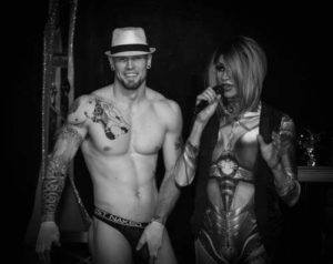 Trey Russell and birthday girl Sabrina Caprice Heartt at Georgjz419 in Toledo, Ohio in March of 2018. - Photo by Bryce McCaughey